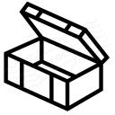 Ammunition Box Open Icon 128x128