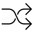 Arrow Shuffle Icon 128x128
