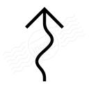 Arrow Squiggly Icon 128x128