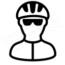 Bicyclist Icon 128x128