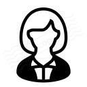 Businesswoman Icon 128x128