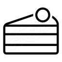 Cake Slice Icon 128x128