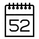 Calendar 52 Icon 128x128