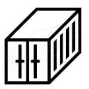 Cargo Container Icon 128x128