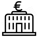Central Bank Euro Icon 128x128