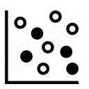 Chart Dot Icon 128x128