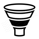 Chart Funnel Icon 128x128