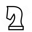Chess Piece Knight Icon 128x128