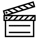 Clapperboard Icon 128x128
