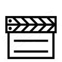 Clapperboard Closed Icon 128x128