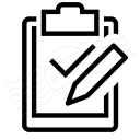 Clipboard Check Edit Icon 128x128