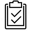 Clipboard Checks Icon 128x128