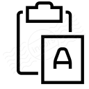 Clipboard Paste No Format Icon 128x128