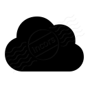Cloud Dark Icon 128x128