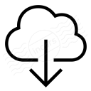Cloud Download Icon 128x128