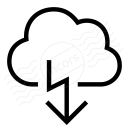 Cloud Flash Icon 128x128