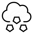 Cloud Hail Icon 128x128