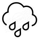 Cloud Rain Icon 128x128