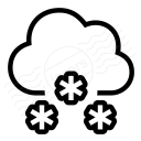 Cloud Snow Icon 128x128