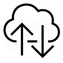 Cloud Updown Icon 128x128