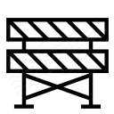 Construction Barrier Icon 128x128