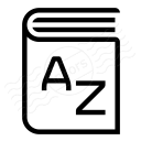 Dictionary Icon 128x128