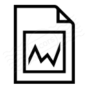 Document Chart Icon 128x128