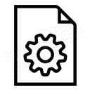 Document Gear Icon 128x128