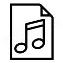 Document Music Icon 128x128