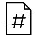 Document Page Number Icon 128x128