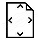 Document Size Icon 128x128