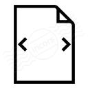 Document Width Icon 128x128