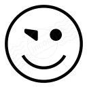 Emoticon Blink Icon 128x128