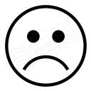 Emoticon Frown Icon 128x128