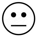 Emoticon Straight Face Icon 128x128