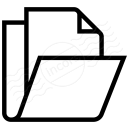 Folder Document Icon 128x128