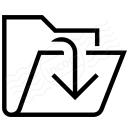 Folder Out Icon 128x128