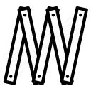 Folding Rule Icon 128x128