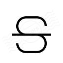 Font Style Strikethrough Icon 128x128