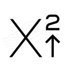 Font Style Superscript Icon 128x128
