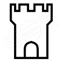 Fortress Tower Icon 128x128
