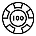 Gambling Chip Icon 128x128