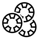Gambling Chips Icon 128x128