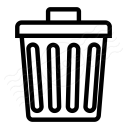 Garbage Can Icon 128x128