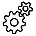Gearwheels Icon 128x128