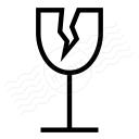 Glass Cracked Icon 128x128