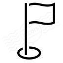 Golf Flag Icon 128x128
