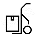 Hand Truck Box Icon 128x128