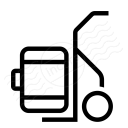 Hand Truck Suitcase Icon 128x128