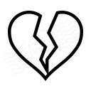 Heart Broken Icon 128x128